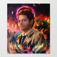 castiel Canvas Prints featuring Castiel by ururuty