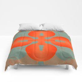 Bold Orange Pattern Abstract Comforters