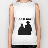 johnlock Biker Tanks featuring Johnlock by lori