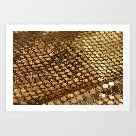 Shiny glitter #2 #gold #decor #art #society6 Art Print