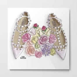 Ballerina's Dream Shoes Metal Print