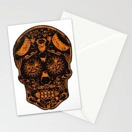 Strongman Sugar Skull, Dia De Los Deadlift Stationery Cards