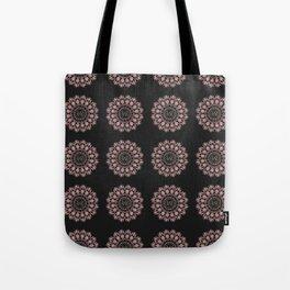 Rose Gold Mandala LOVE Pattern Tote Bag