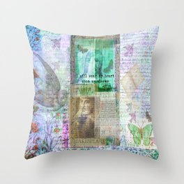 Shakespeare romantic quote Throw Pillow