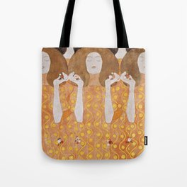 Beethoven Frieze by Gustav Klimt Tote Bag