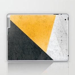 Modern Yellow & Black Geometric Laptop & iPad Skin