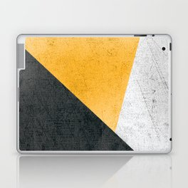 Modern Yellow & Black Geometric Laptop & iPad Skin