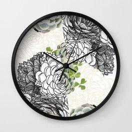 Succulent Study  Wall Clock