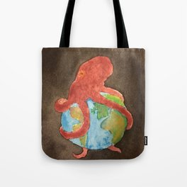 Octopus and Earth Tote Bag