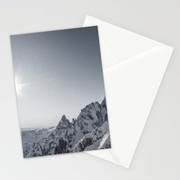 Mountain peaks - Mont Blanc serie 6 - sun kiss Stationery Cards