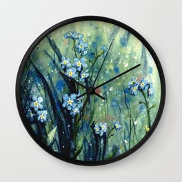 Forget me not flowers Wall Clock