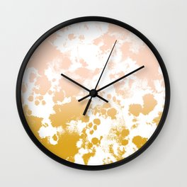 Essie - abstract minimal gold painting metallics home decor minimalist hipster Wall Clock
