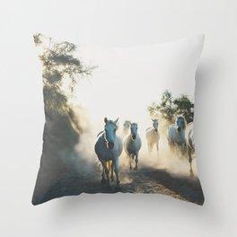 Camargue Horse XVIII photograph Throw Pillow