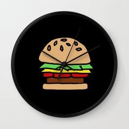 Burger Off Wall Clock