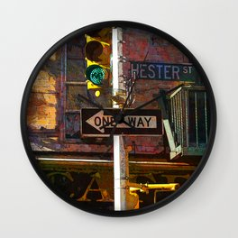 Hester Street Wall Clock