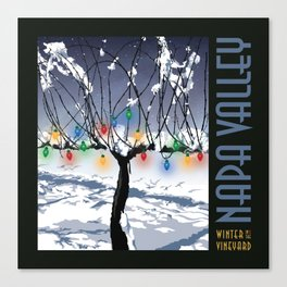 Holidays in the Vineyard Poster Canvas Print