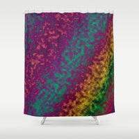 tie dye Shower Curtains featuring Tie Dye by Kings in Plaid