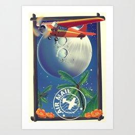 Vintage Air Mail poster Art Print
