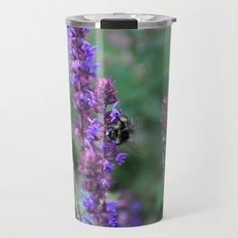 Lavender Bumblebee Travel Mug