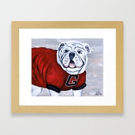 Georgia Bulldog Uga X College Mascot Framed Art Print