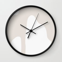 Shape Study #16 - Mountains in Taupe Wall Clock
