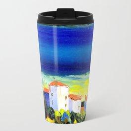 the lakeside village Travel Mug