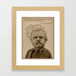 GK Chesterton Framed Art Print