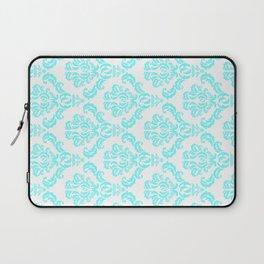DAMASK AQUA BLUE Laptop Sleeve
