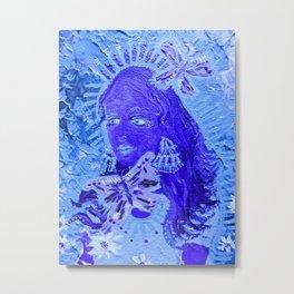 Blue Butterfly Queen Metal Print