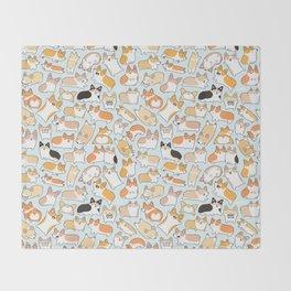 Corgilicious Corgi Doodle Throw Blanket