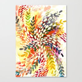 Color Explosion Watercolor Canvas Print