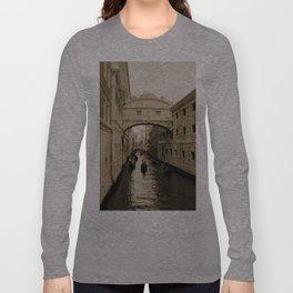 Bridge of Sighs, Venice, Italy, Sepia,  Long Sleeve T-shirt