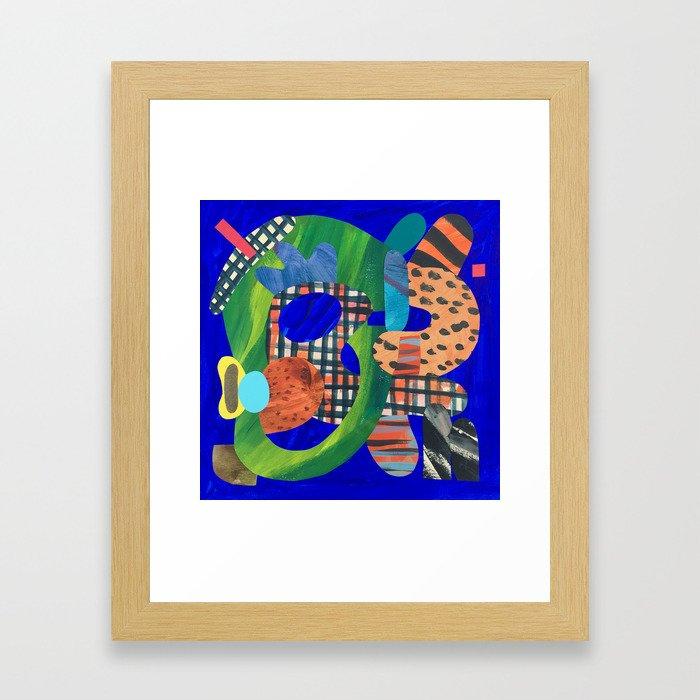 Blue Hat Framed Art Print