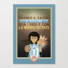 Poster Nostalgica - Maradona Canvas Print
