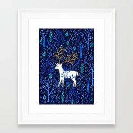Deericorn In Blue Framed Art Print