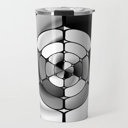 Chromed black and white Travel Mug