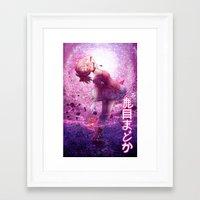 madoka Framed Art Prints featuring Madoka Magica Madoka Kaname  by RootisTabootus