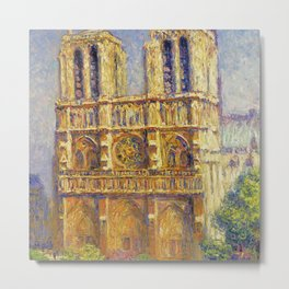 Paris, Notre Dame Cathedral, the Effect of Sunlight, French landscape by Francis Picabia Metal Print