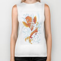 koi fish Biker Tanks featuring Koi Fish by Isotta Pavarin
