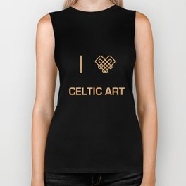 I heart Celtic Art Biker Tank