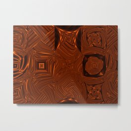 Abstract Art- Brown Art- Sacred Geometry Art- Mom From the Lotus Metal Print