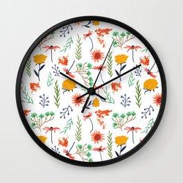 Rustica #illustration #pattern Wall Clock
