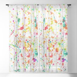 Sunday Splatter Sheer Curtain