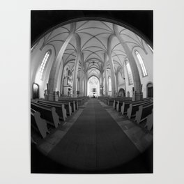 St. Mary's Church St. Mary's parish church in Torgau BW Poster