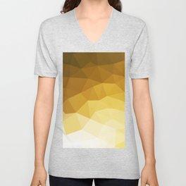 Minimalist mid century modern nordic geometric brown yellow beige ombre pattern Unisex V-Neck