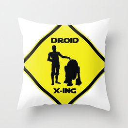 Droid Crossing Throw Pillow