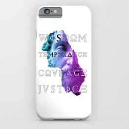 Marcus Virtues of Stoicism Wisdom Courage Justice iPhone Case