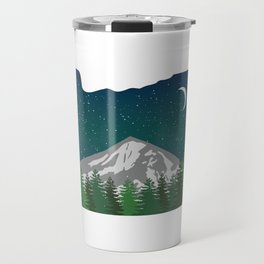 Oregon Mountain on a Clear Night Travel Mug