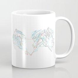 Whistler Blackcomb, BC, Canada - Minimalist Trail Map Coffee Mug
