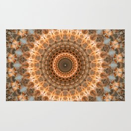 Shiny golden mandala Rug